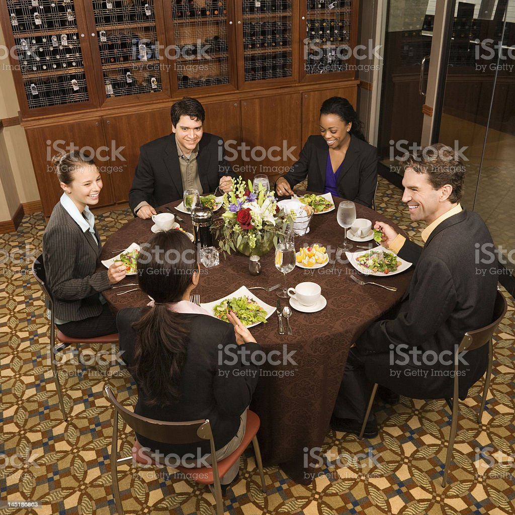 Business people eating. royalty-free stock photo