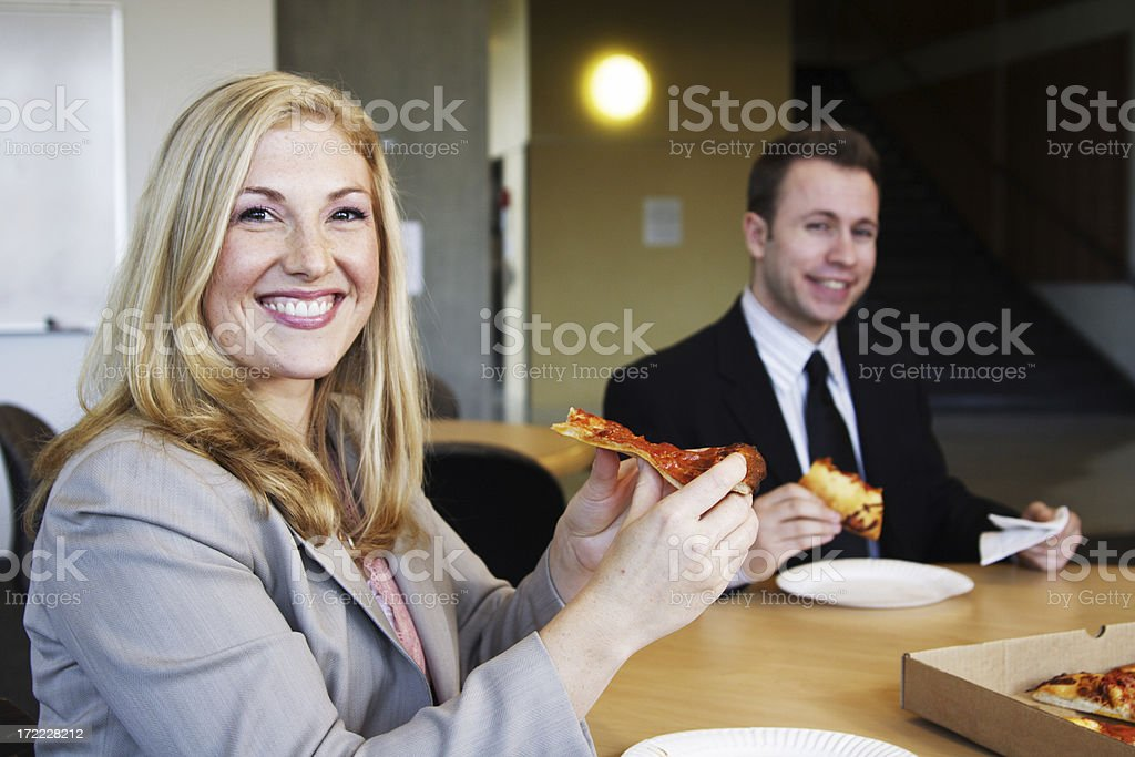 business people eating royalty-free stock photo