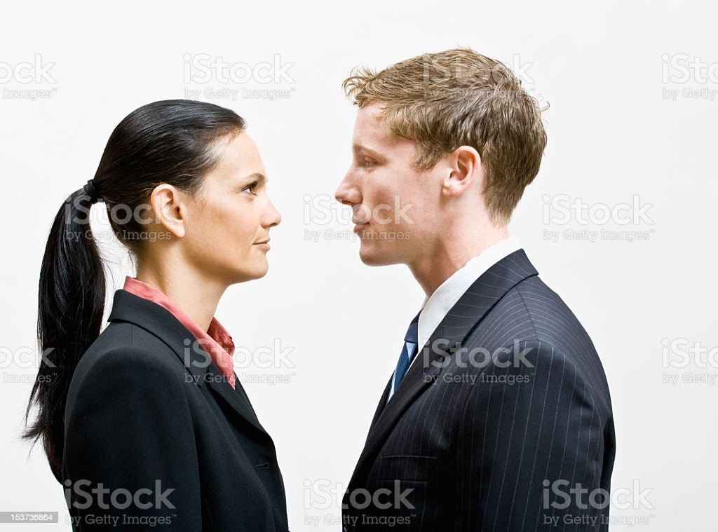 Business People Facing Each Other stock photo