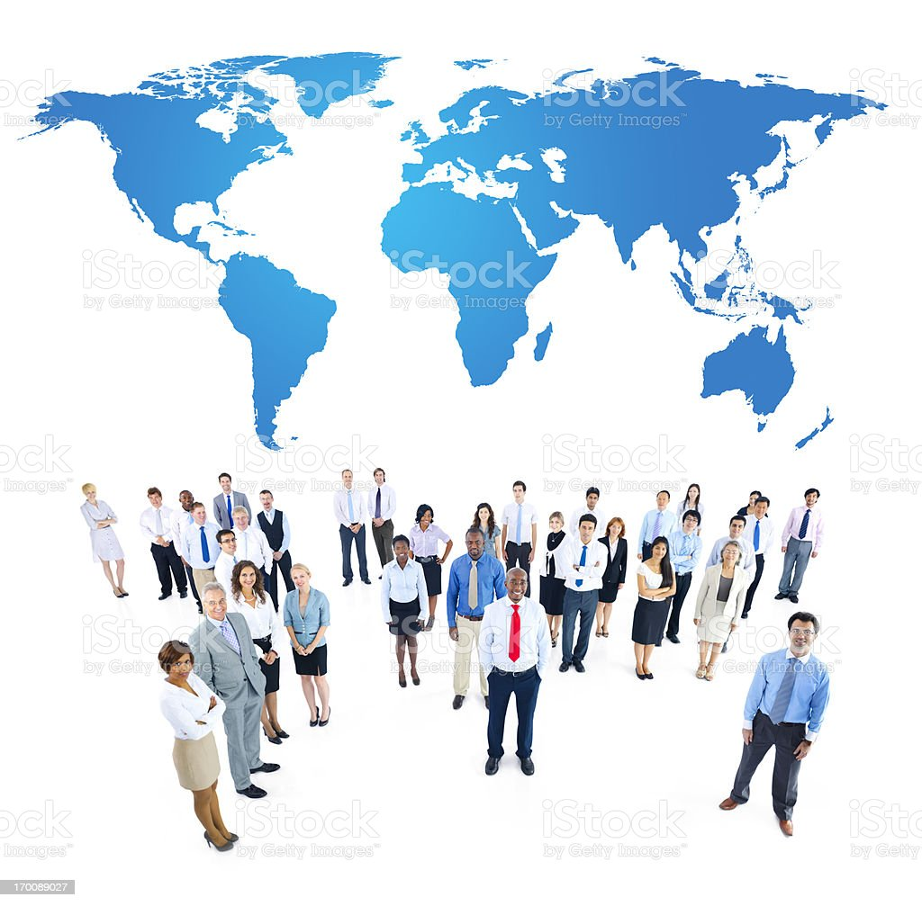 Business people from all parts of the world royalty-free stock photo