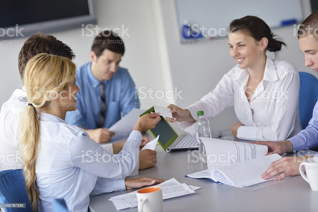 business people group  in a meeting at office royalty-free stock photo