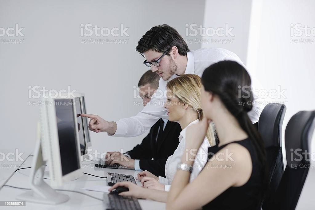 business people group working in customer and help desk office royalty-free stock photo