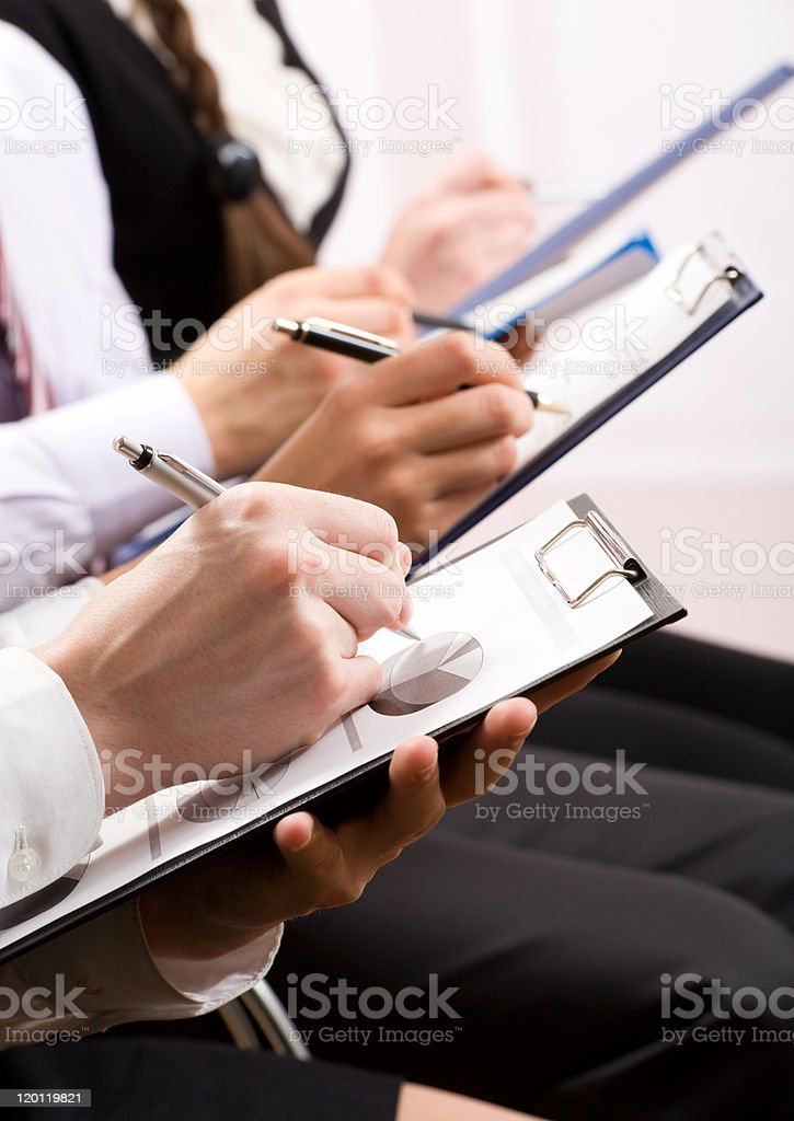 Business people hands stock photo