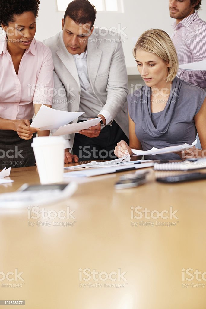 Business people hard at work royalty-free stock photo