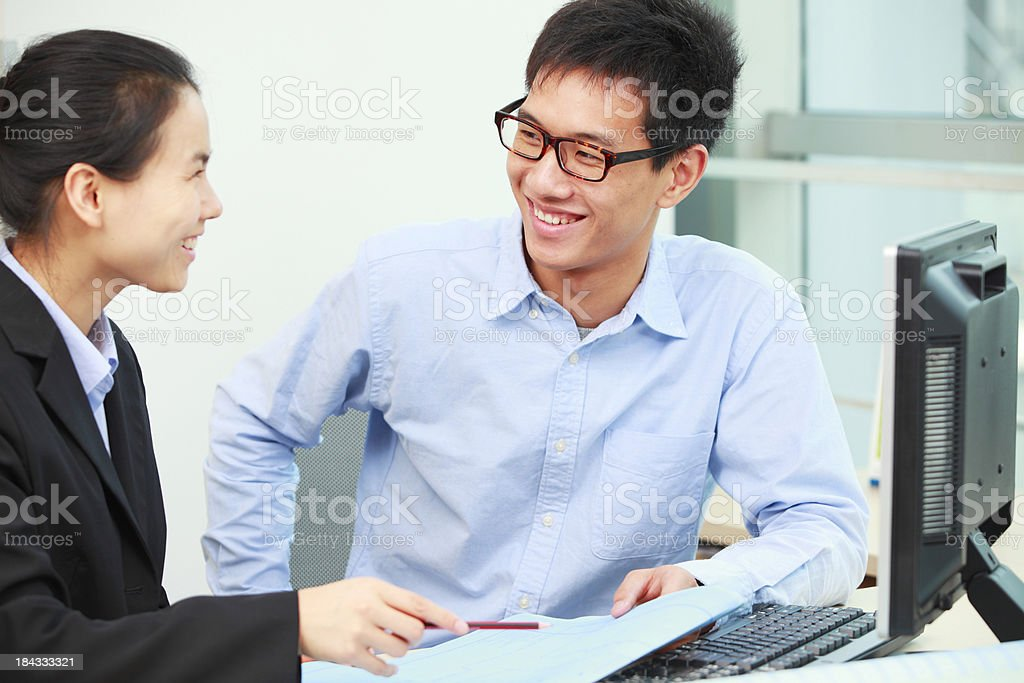 business people have conversation in office royalty-free stock photo