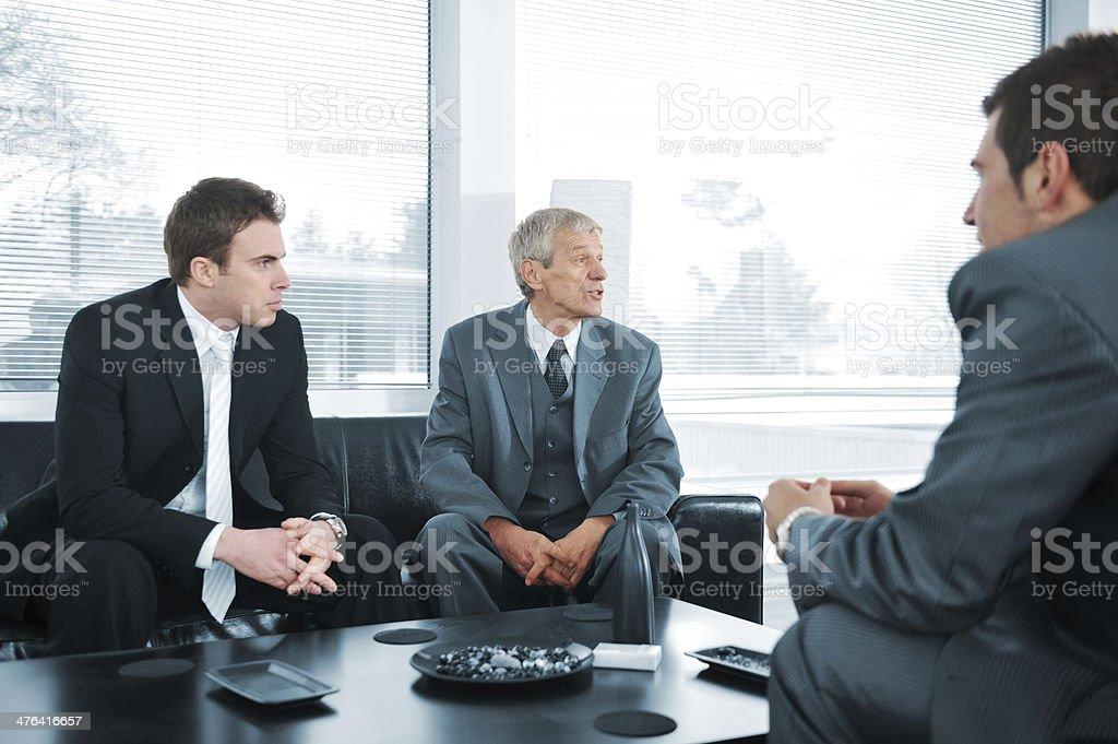 Business people having a break royalty-free stock photo