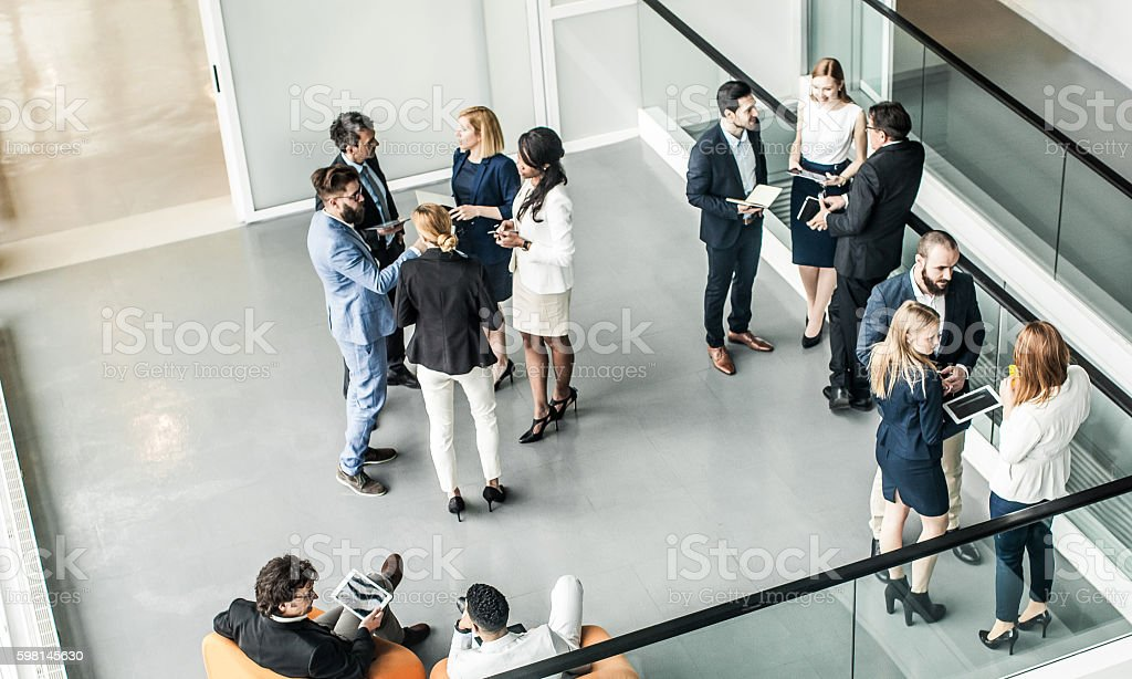 Business People Having a Meeting stock photo