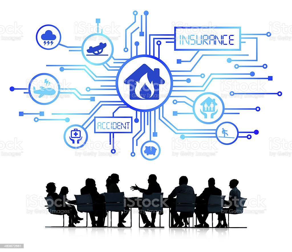 Business People Having a Meeting with Insurance Concept stock photo