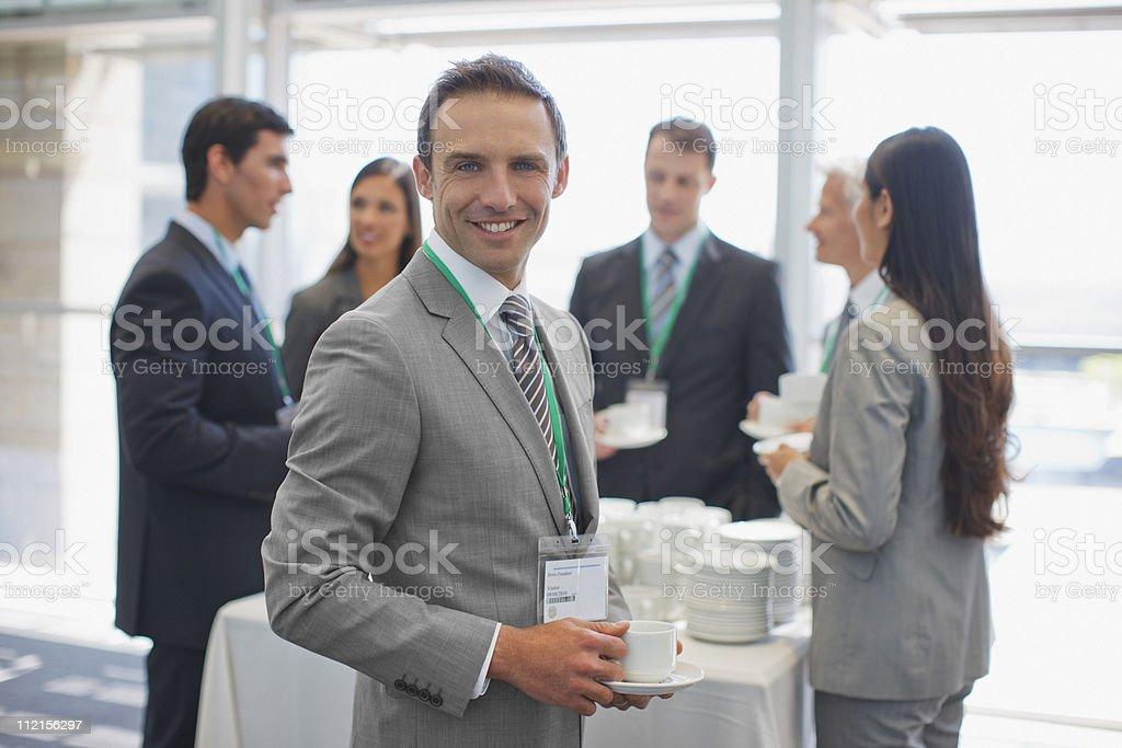 Business people having coffee break in office royalty-free stock photo