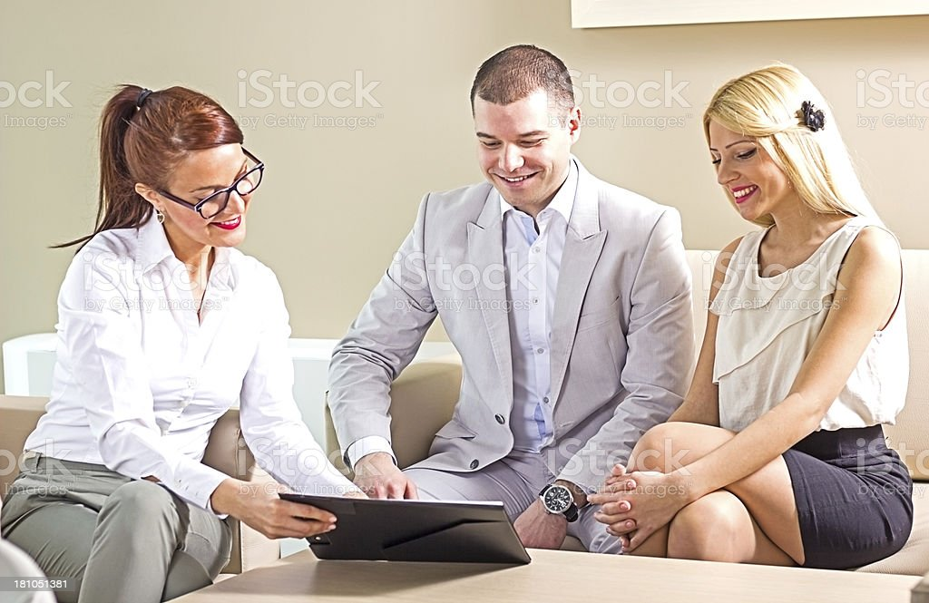 Business people having discussion in the office. royalty-free stock photo