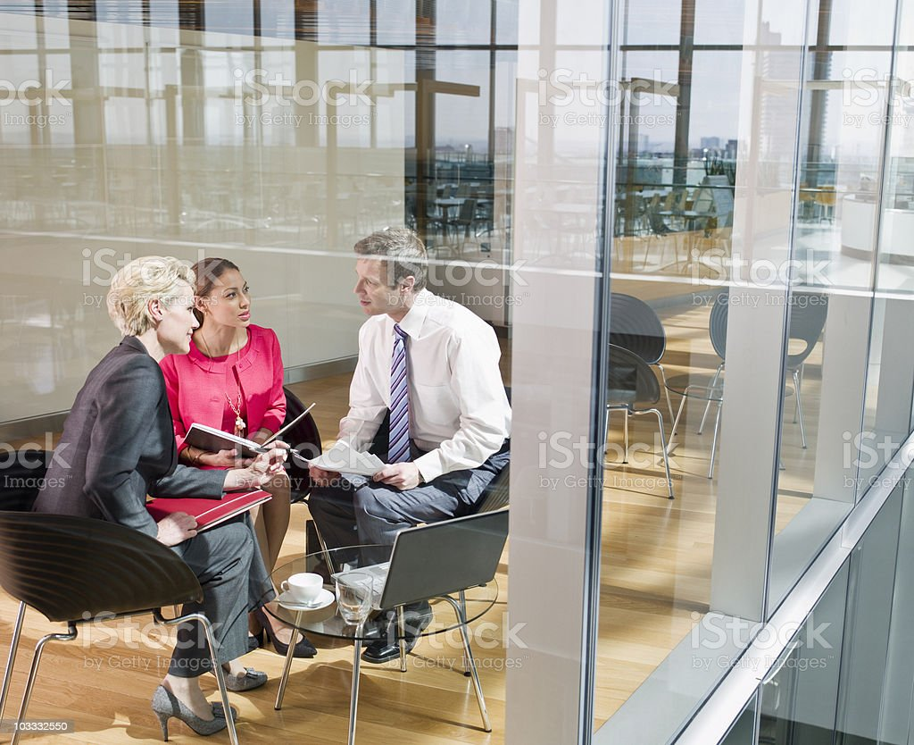 Business people having meeting royalty-free stock photo