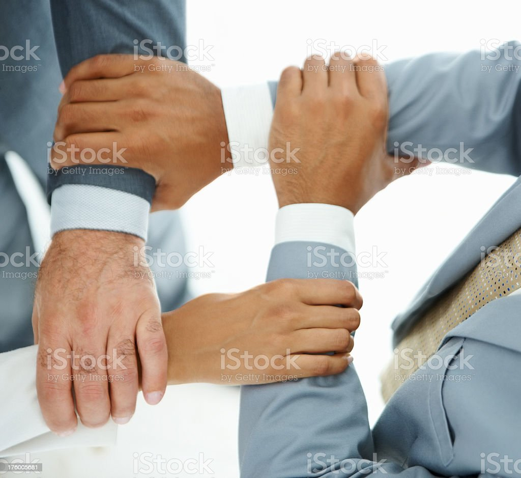 Business people holding hands royalty-free stock photo