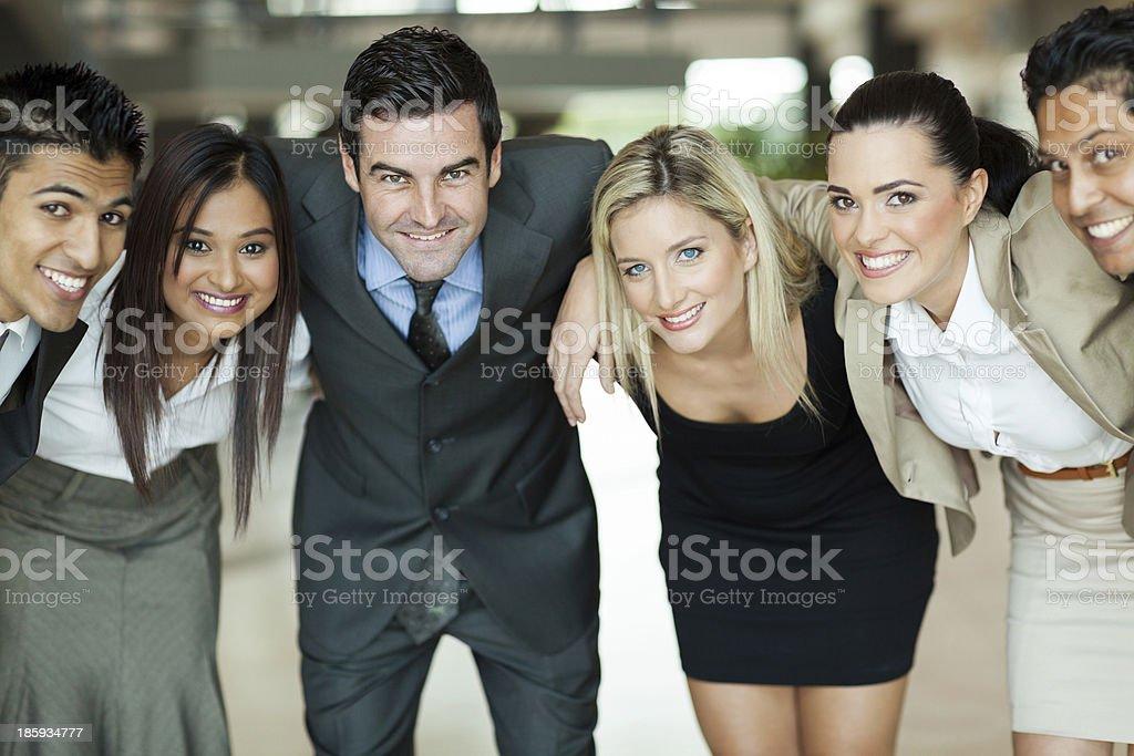 business people huddling royalty-free stock photo