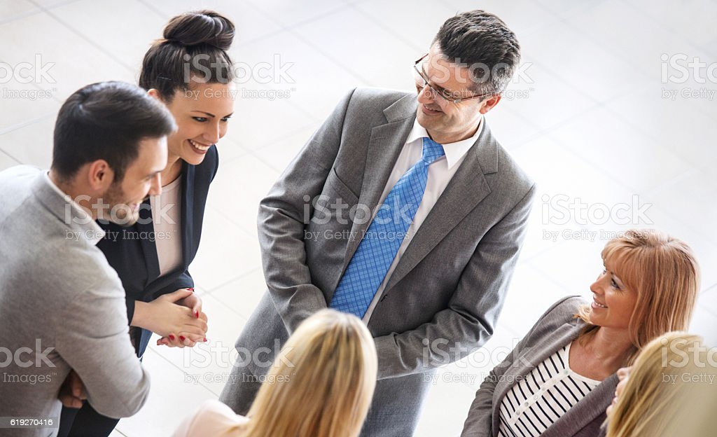 Business people in a casual meeting. stock photo