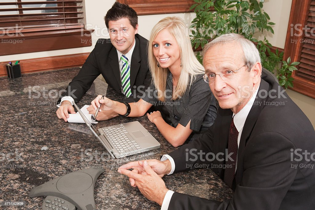 Business people in a conference call royalty-free stock photo
