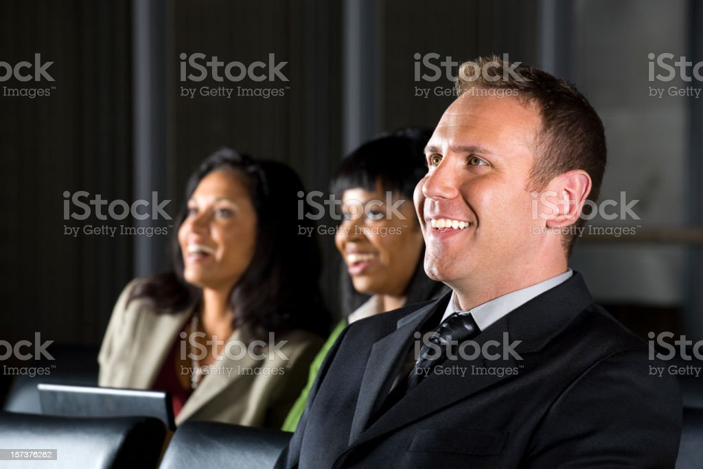 Business People in a Conference royalty-free stock photo