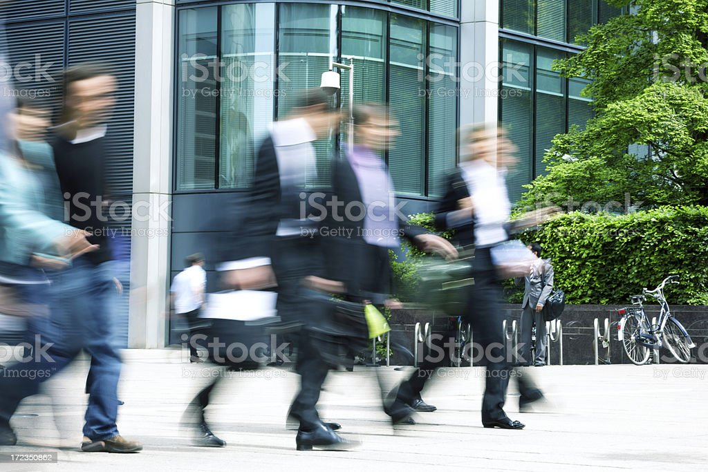 business people in a financial district royalty-free stock photo