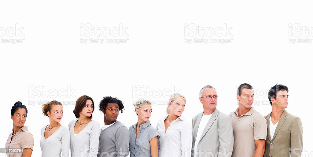 Business people in a line royalty-free stock photo