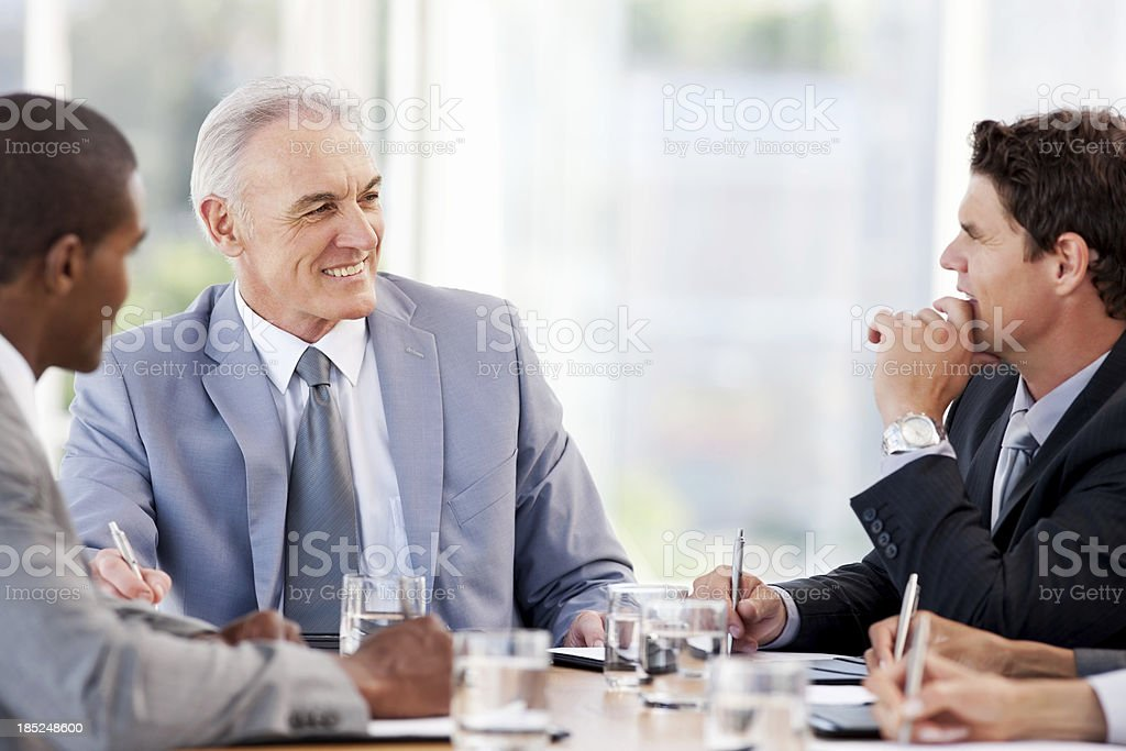Business People In a Meeting royalty-free stock photo