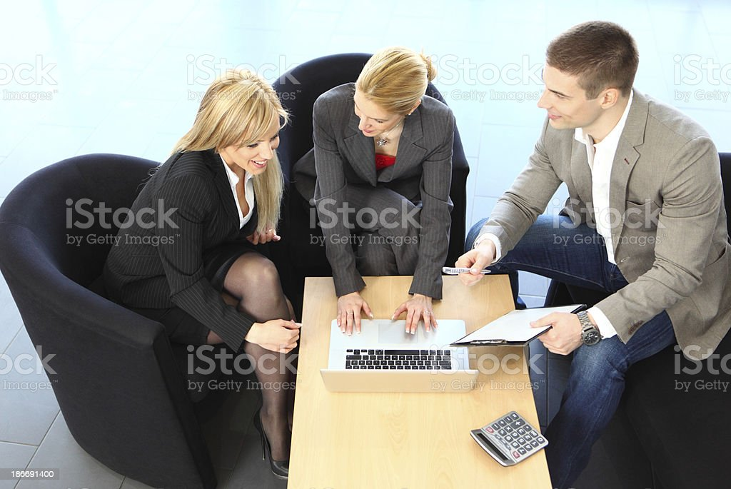 Business people in a meeting. royalty-free stock photo
