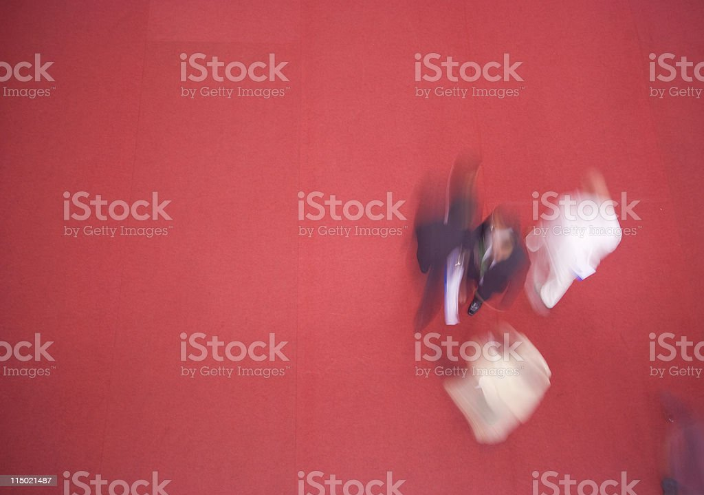 Business People in a Rush royalty-free stock photo