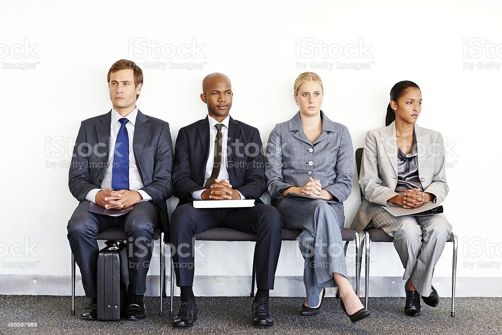 Business People in a Waiting Room royalty-free stock photo