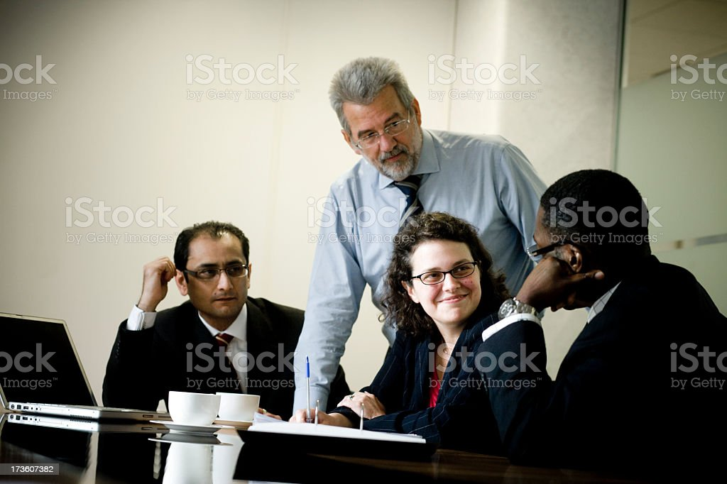 Business people in an office meeting royalty-free stock photo