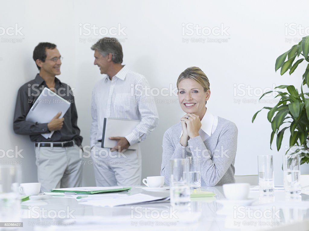 Business people in conference room royalty-free stock photo