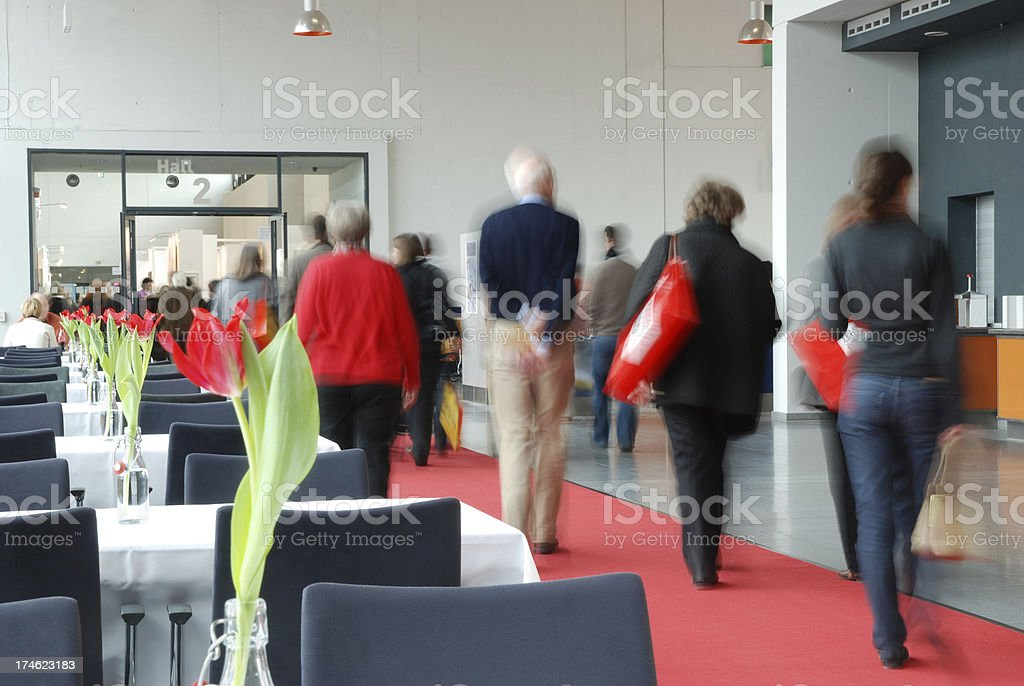 Business people in convention center royalty-free stock photo