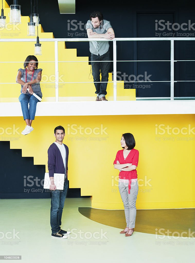 Business people in empty office royalty-free stock photo