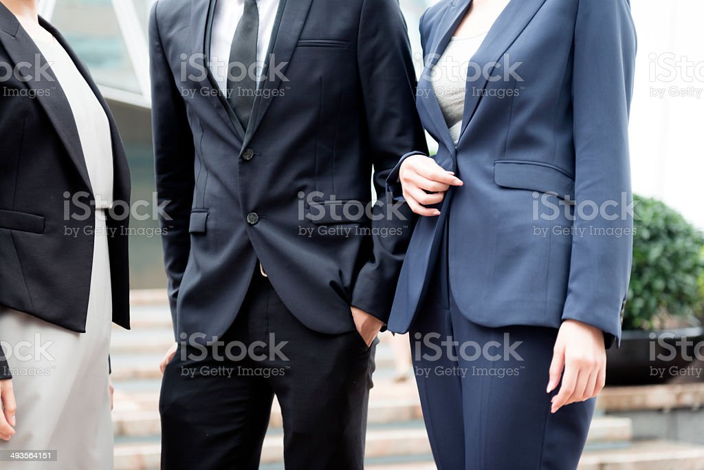 Business People in Hong Kong, China, Asia royalty-free stock photo
