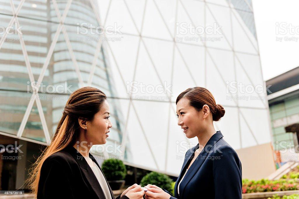 Business People in Hong Kong, China royalty-free stock photo