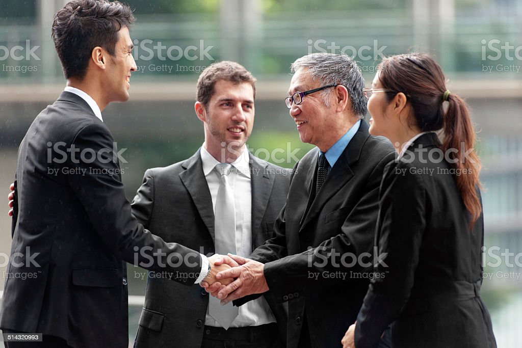 Business people in Hong Kong stock photo