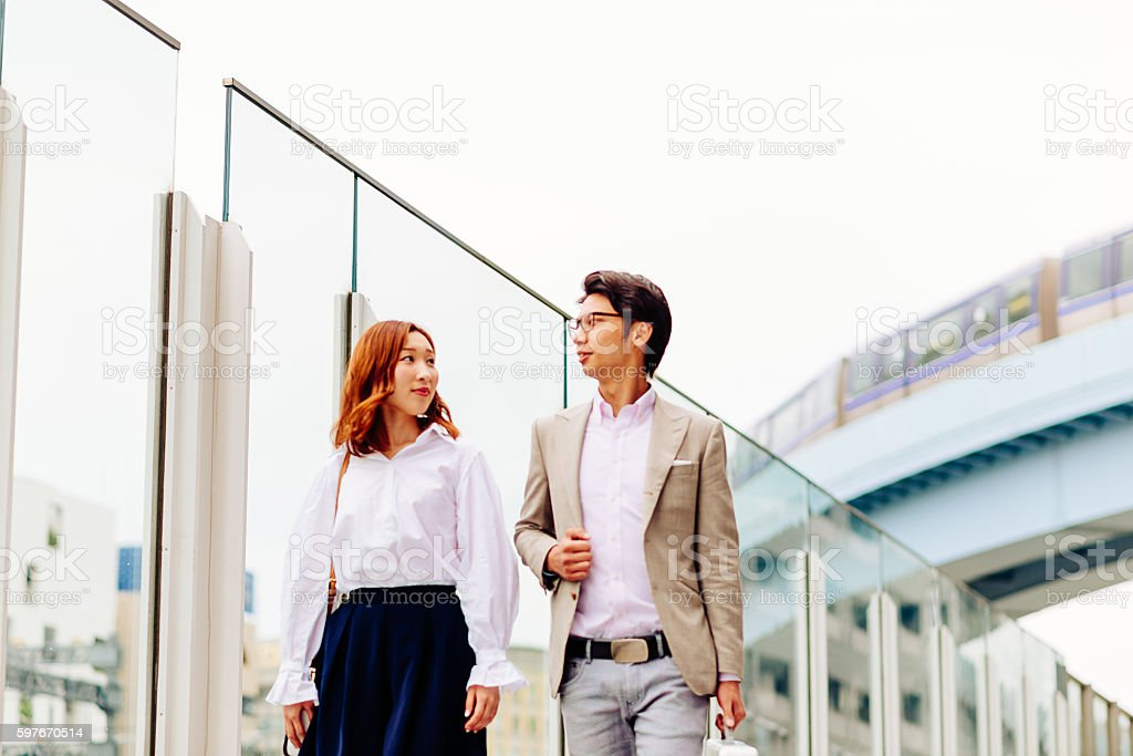 Business people in Japan developing new ideas stock photo