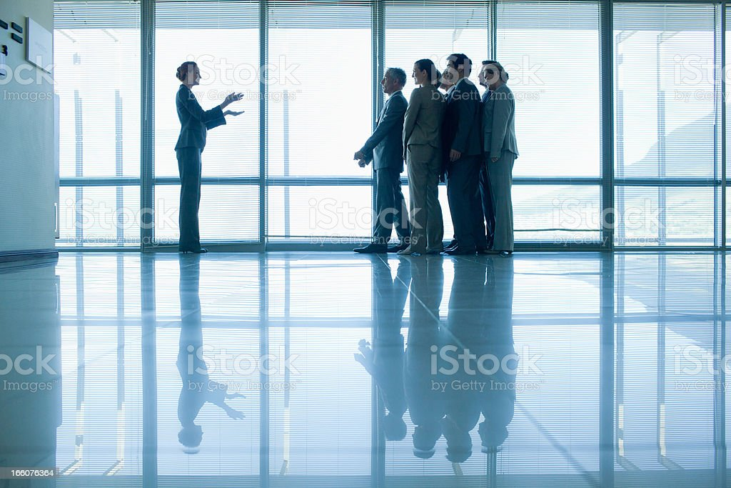 Business people in lobby royalty-free stock photo