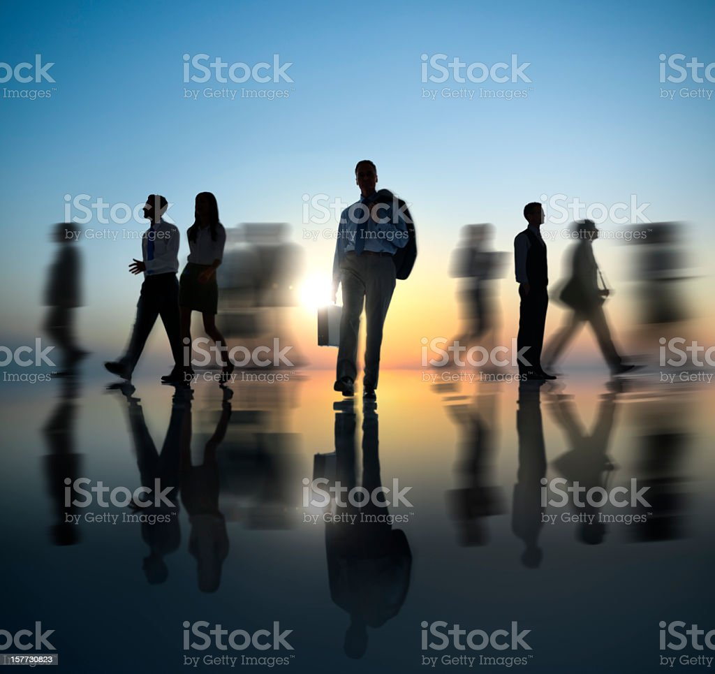 Business people in motion picture royalty-free stock photo