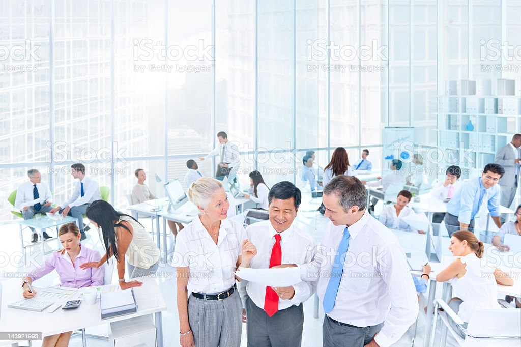 Business people in office royalty-free stock photo
