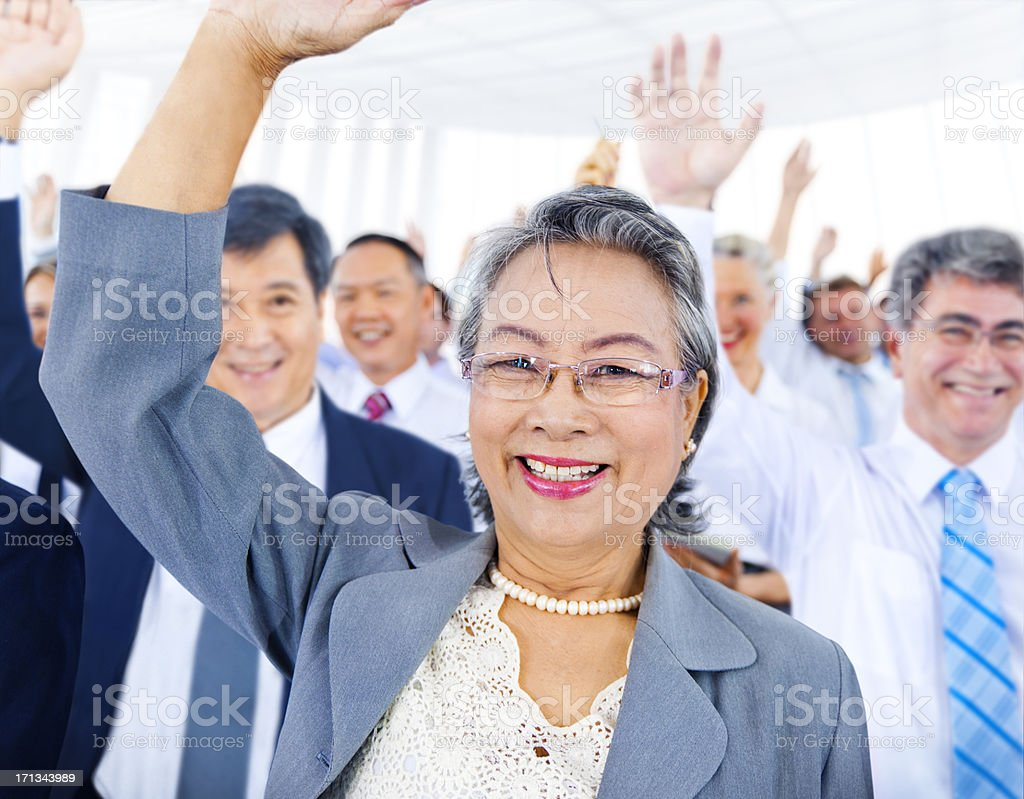 Business people in presentation royalty-free stock photo