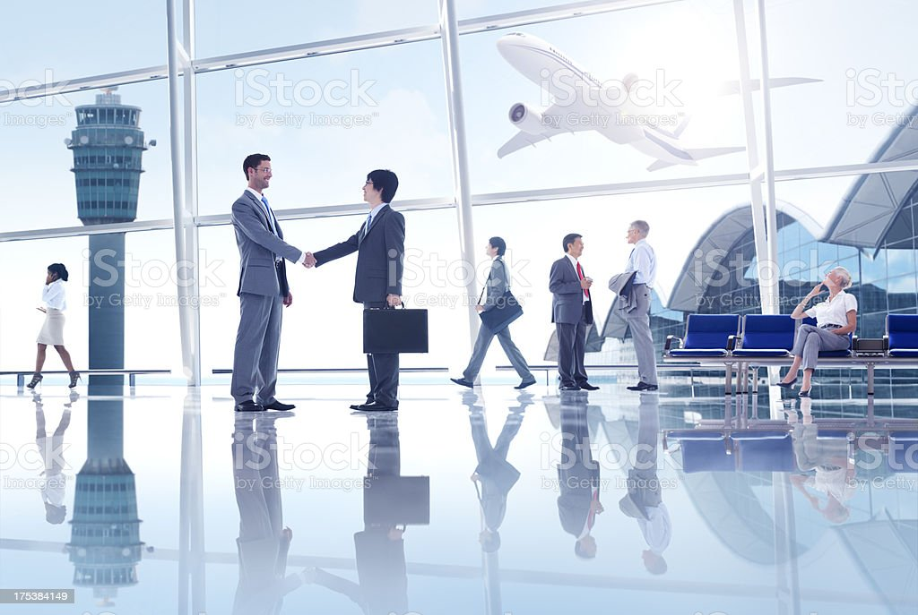 Business People in the Airport royalty-free stock photo