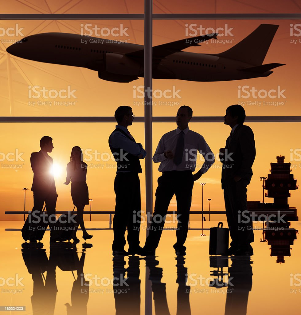 Business people in the airport. royalty-free stock photo