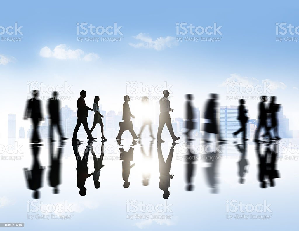 Business People in the City. royalty-free stock photo