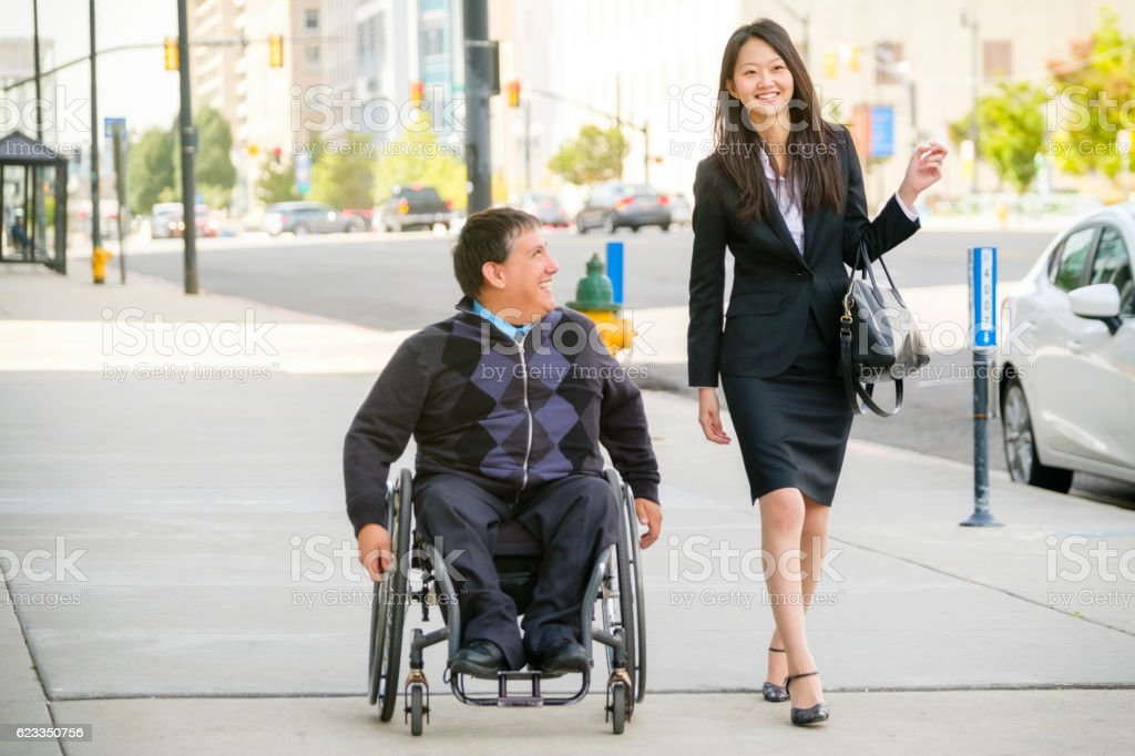 Business People in the City stock photo