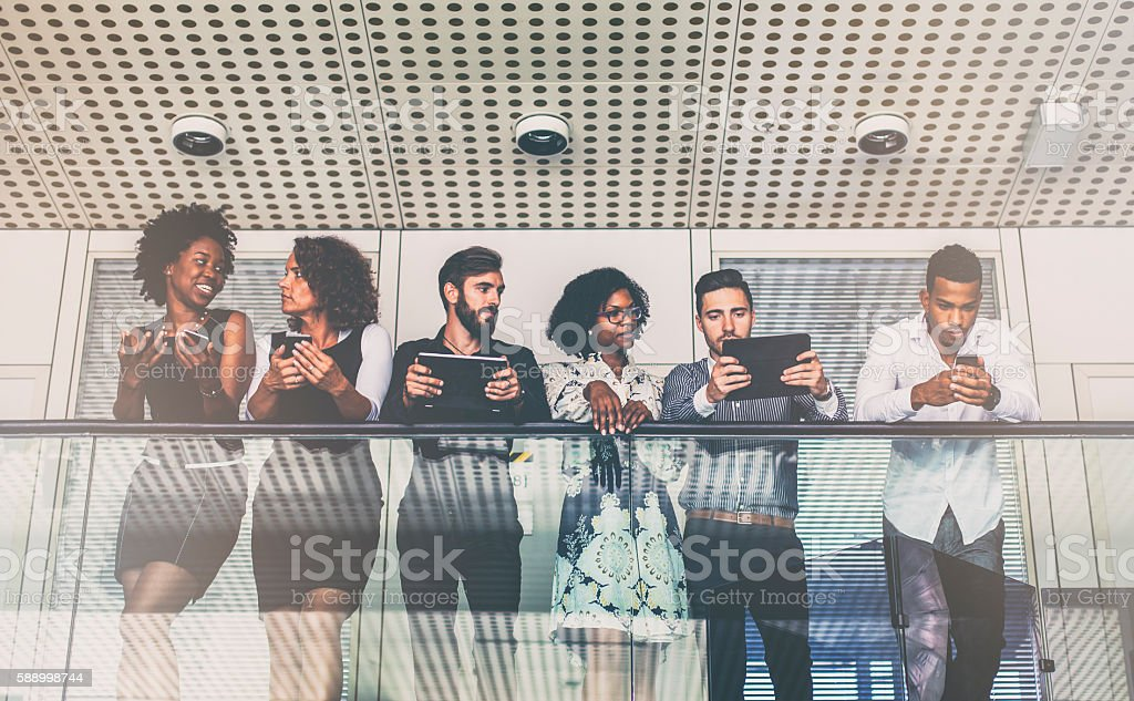 Business people in the office building stock photo