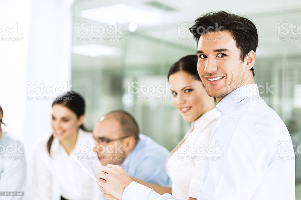 Business people in the office royalty-free stock photo