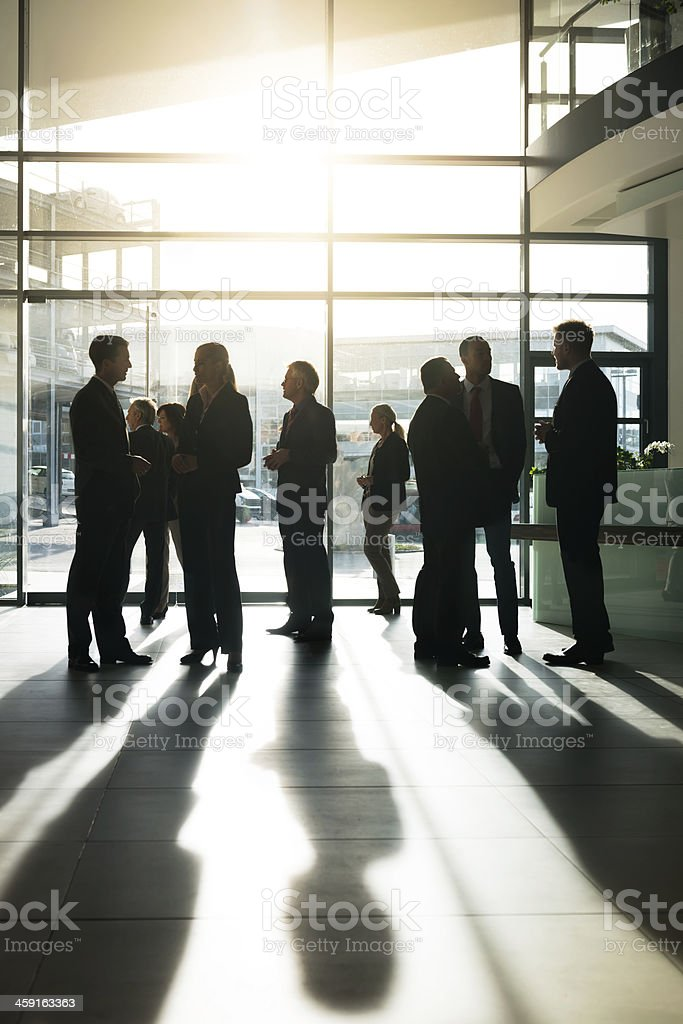Business People Interacting stock photo