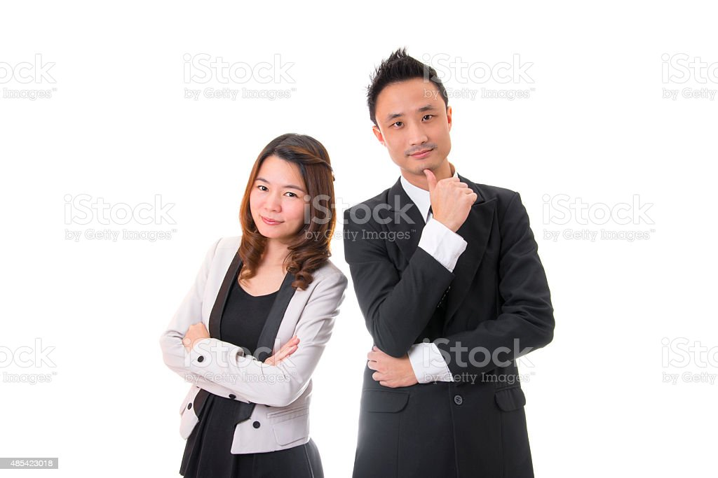 Business People Isolated On White Background royalty-free stock photo