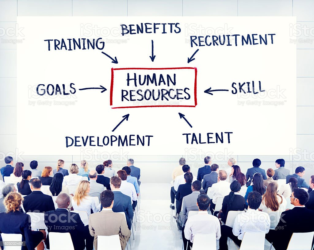 Business People Learning About Human Resources stock photo