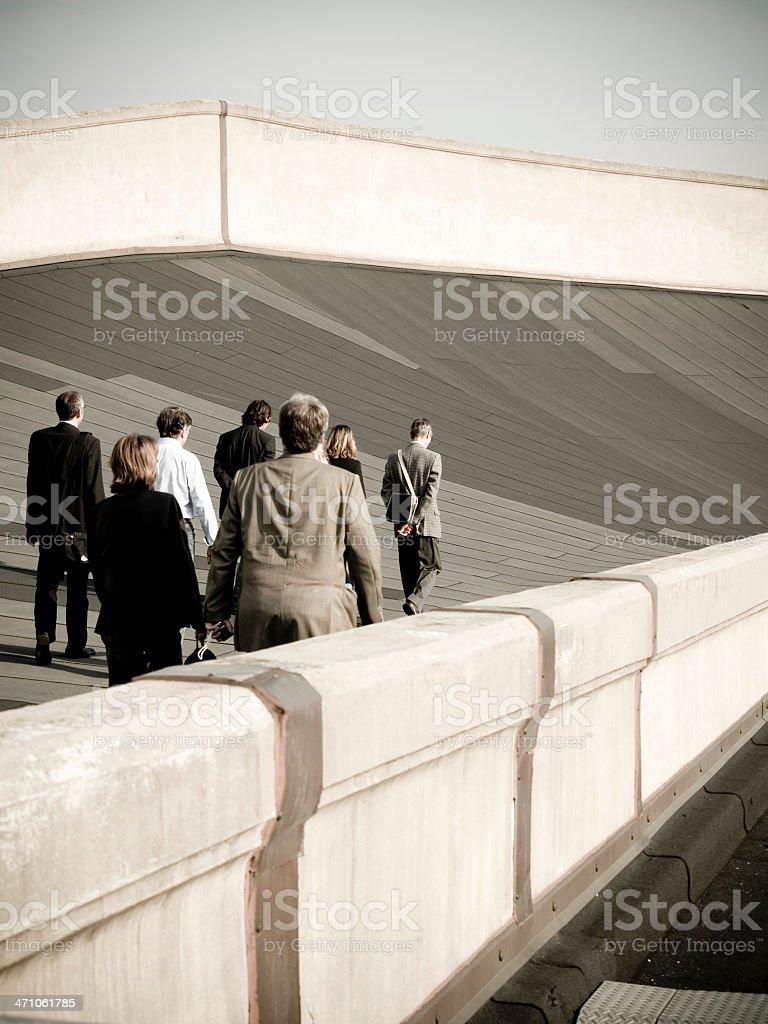 Business People.  Lingotto Building. Turin. stock photo