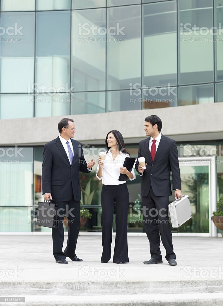 Business people living the office royalty-free stock photo