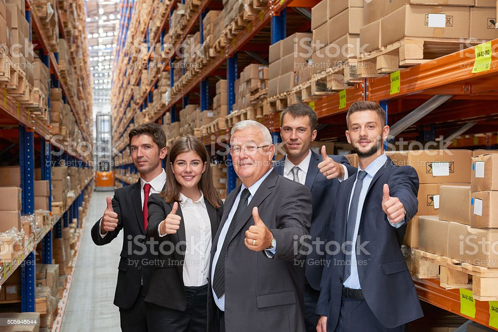 Business people making a sign to confirm stock photo